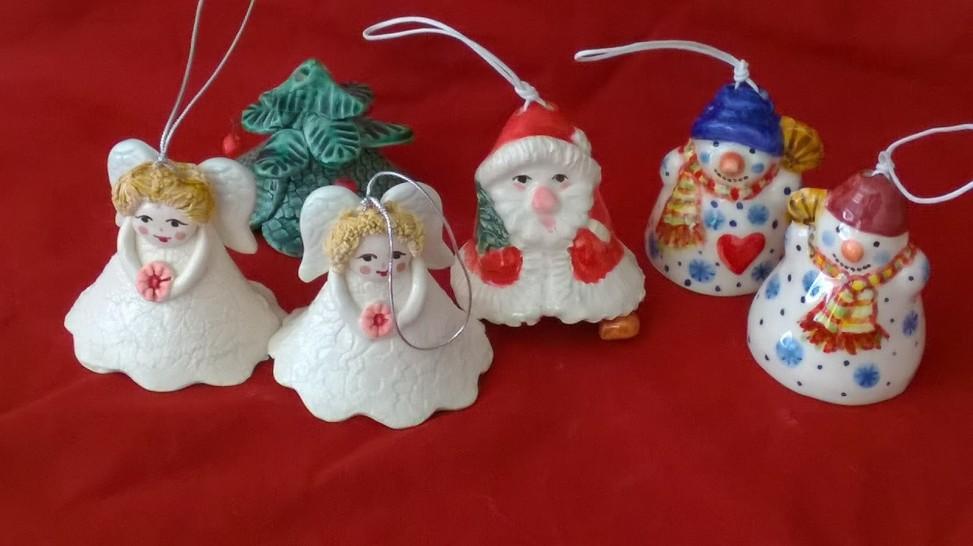 Christmas bells handmade ceramics
