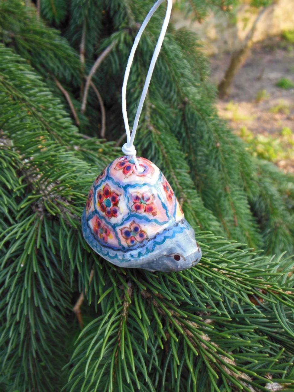 Handmade ceramics turtle