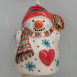 Snowman with a warm heart