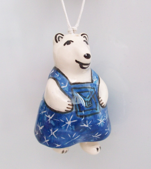 Christmas souvenir The white bear