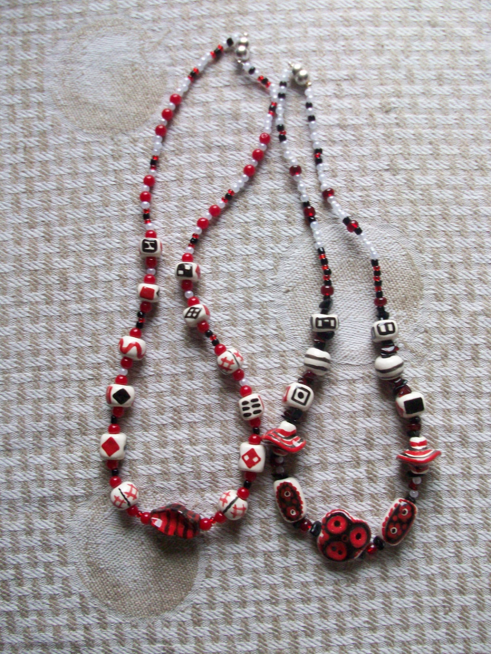 Jewelry: Two Necklaces red and black