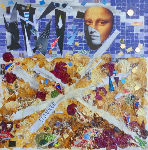 Paris. Collage. Mixed Media